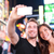 dating young couple happy in love taking selfie photo on times square new york city at night beaut stock photo © maridav
