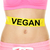 vegan diet concept   word written on woman stomach stock photo © maridav