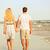 вид · сзади · любви · , · держась · за · руки · ходьбе · пляж - Сток-фото © maridav