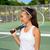 férfi · teniszező · labda · fotó · vonzó · teniszlabda - stock fotó © maridav