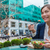 小さな · ビジネス女性 · 食べ · サラダ · 昼休み · 市 - ストックフォト © maridav