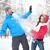 冬 · 楽しい · カップル · 雪玉 · 戦う - ストックフォト © maridav