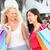 kettő · női · barátok · vásárlás · nők · boldog - stock fotó © maridav