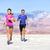 emberek · fut · futó · fitnessz · pár · sivatag - stock fotó © maridav