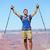 sucesso · vencedor · pessoa · feliz · andarilho · Grand · Canyon - foto stock © maridav