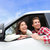couple lifestyle in new car looking out window stock photo © maridav