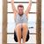 Fitness people - man training abs on cross fit bar stock photo © Maridav