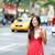 casual young urban woman drinking coffee new york stock photo © maridav