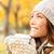 autumn woman drinking coffee stock photo © maridav