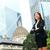 femme · d'affaires · heureux · succès · extérieur · Hong-Kong · célébrer - photo stock © maridav