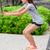 fitnessz · nő · pad · ugrás · ugrik · tengerpart · atléta - stock fotó © Maridav