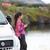 kadın · içme · kahve · seyahat · yolculuk · İzlanda - stok fotoğraf © maridav