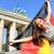 german flag woman happy at berlin germany stock photo © maridav