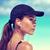 ritratto · ragazza · cuffie · spiaggia · cap · donna - foto d'archivio © maridav