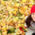 autumn fall banner background texture woman stock photo © maridav