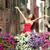 Venetië · vrouw · gelukkig · mode · rode · jurk · romantische - stockfoto © maridav