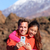 turistas · feliz · casal · caminhadas · isolado · branco - foto stock © maridav