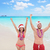 happy christmas holiday   couple on hawaii beach stock photo © maridav