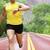 atleta · corredor · olhando · freqüência · cardíaca · monitor · ver - foto stock © maridav