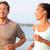 jogging · fitness · jongeren · lopen · gelukkig · glimlachend - stockfoto © Maridav