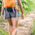 hiker woman hiking with backpack on nature trail stock photo © maridav