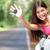 car   woman showing new car keys happy stock photo © maridav
