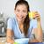 女性 · 飲料 · オレンジジュース · 食べ · 朝食 · 笑みを浮かべて - ストックフォト © Maridav