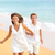para · uruchomiony · plaży · trzymając · się · za · ręce · uśmiechnięty · człowiek - zdjęcia stock © maridav