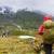 kirándulás · természetjáró · hegyek · hátizsák · nő · élet - stock fotó © Maridav