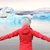 freedom happy woman at glacier lagoon on iceland stock photo © maridav