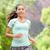 attivo · femminile · joggers · esecuzione · esterna · ascoltare · musica - foto d'archivio © maridav