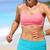 sporty running woman in sports bra and smartwatch stock photo © maridav