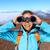 徒步旅行者 · 看 · 雙筒望遠鏡 · 享受 · 壯觀 · 視圖 - 商業照片 © maridav