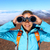 randonneur · regarder · jumelles · spectaculaire · vue - photo stock © maridav