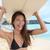 portrait of surfer woman on waikiki beach hawaii stock photo © maridav