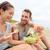 пару · еды · фреска · еды · пляж · счастливым - Сток-фото © maridav
