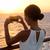 navio · de · cruzeiro · férias · mulher · pôr · do · sol · viajar - foto stock © maridav