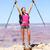 Freiheit · Abenteuer · Frau · glücklich · Grand · Canyon · kostenlos - stock foto © maridav