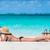 plaży · kobieta · relaks · biały - zdjęcia stock © maridav