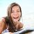 サーフボード · 女性の笑顔 · 演奏 · 海 · 幸せ · 笑みを浮かべて - ストックフォト © maridav