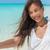 vrouw · zelfportret · strandvakantie · jonge · asian - stockfoto © maridav