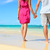 Beach couple in love holding hands on honeymoon stock photo © Maridav