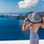 europe luxury santorini travel destination woman stock photo © maridav