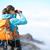 vrouw · wandelen · bergen · jonge · vrouw · wandelaar - stockfoto © maridav