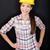 építőmunkás · boldog · nő · portré · fiatal · nő · visel · biztonsági · szemüveg - stock fotó © Maridav