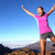 vencedor · sucesso · caminhadas · andarilho · mulher - foto stock © maridav