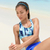 fitness woman doing ab exercise workout on beach stock photo © maridav
