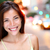 belo · cara · jovem · asiático · mulher · grande - foto stock © maridav