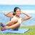 fitness · vrouw · buiten · crossfit · krachttraining · exemplaar · ruimte - stockfoto © maridav