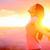 szabad · boldog · nő · naplemente · gyönyörű · fehér - stock fotó © maridav